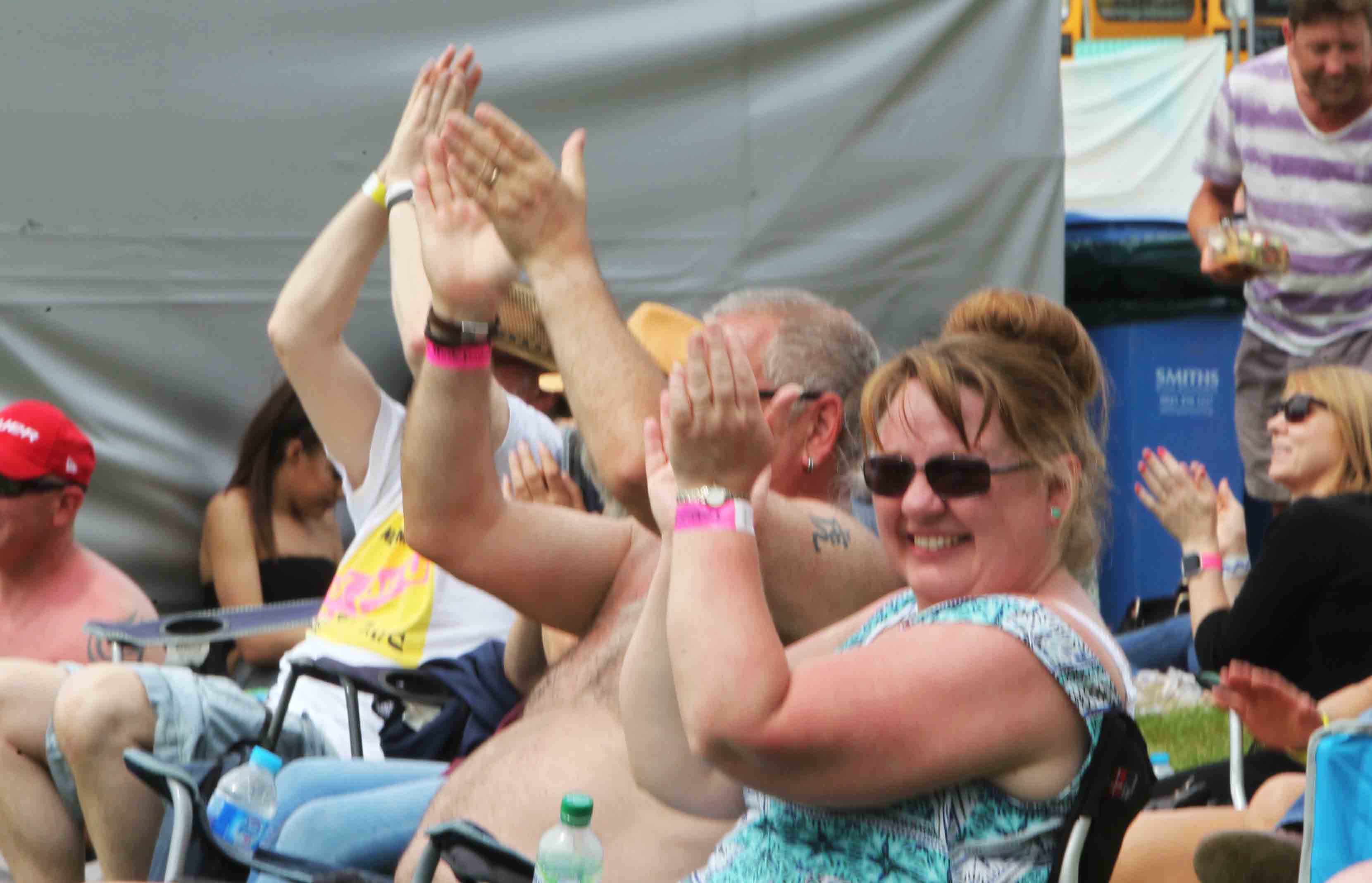 Festival Goers clapping